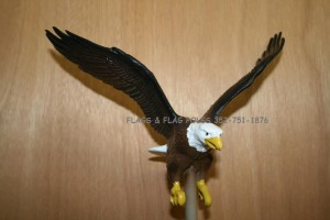 FULL COLOR EAGLE FLAGPOLE TOPPER