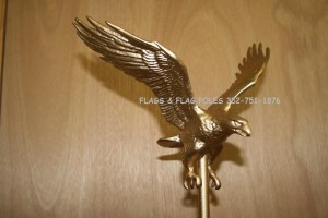 GOLD EAGLE FLAGPOLE TOPPER