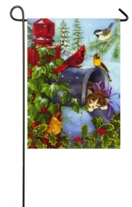 CHRISTMAS GARDEN FLAG 5 THE VILLAGES FLORIDA CAR CLUB