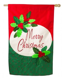 CHRISTMAS GARDEN FLAG 6 THE VILLAGES FLORIDA MERRY CHRISTMAS