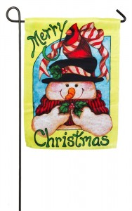 CHRISTMAS GARDEN FLAG 8 THE VILLAGES FLORIDA HOT RODS